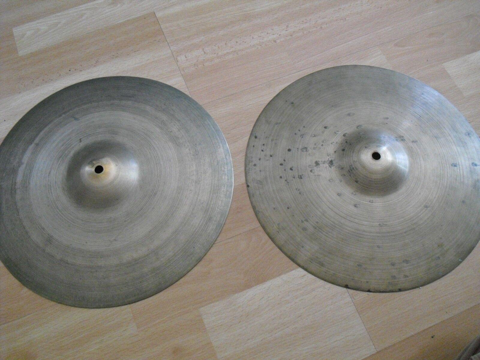 13  Vintage 40s Avedis Zildjian Trans Stamp HiHats Hi Hats Cymbals