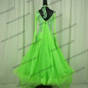 JZ Tassel Latin Dance Dress Clothing Salsa Costume Ballroom Competition Skirt//