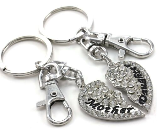 NEW Mom Mother /& Daughter Best Friend BFF Mother/'s Day Gift Heart Keychain Charm