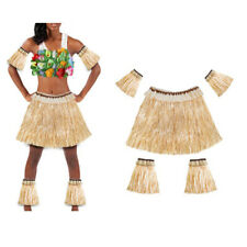 Adults Hawaiian Hula Skirt Ladies Mens Grass Luau Fancy Dress Accessory Unisex
