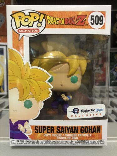 Funko Pop DBZ Super Saiyan Gohan Galactic Toys Exclusive Ready To Ship Fast