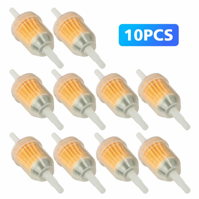 """16/"""" Inline Fuel Gas Filter Lawn Mower Small Engine Yellow 10 PCS /""""1 4 x 5"""