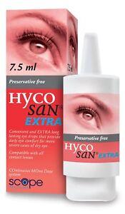 Hycosan Extra sans Conservateur Lubrifiant Gouttes Yeux 7.5ml
