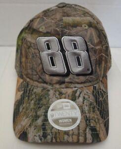 Dale Jr 88 Women's New Era 39THIRTY M/L Trucker Cap Hat Camo