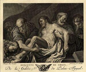 Lodovico-Carracci-Jesus-Descente-de-Croix-Gravure-originale-Michau-XVIIIe