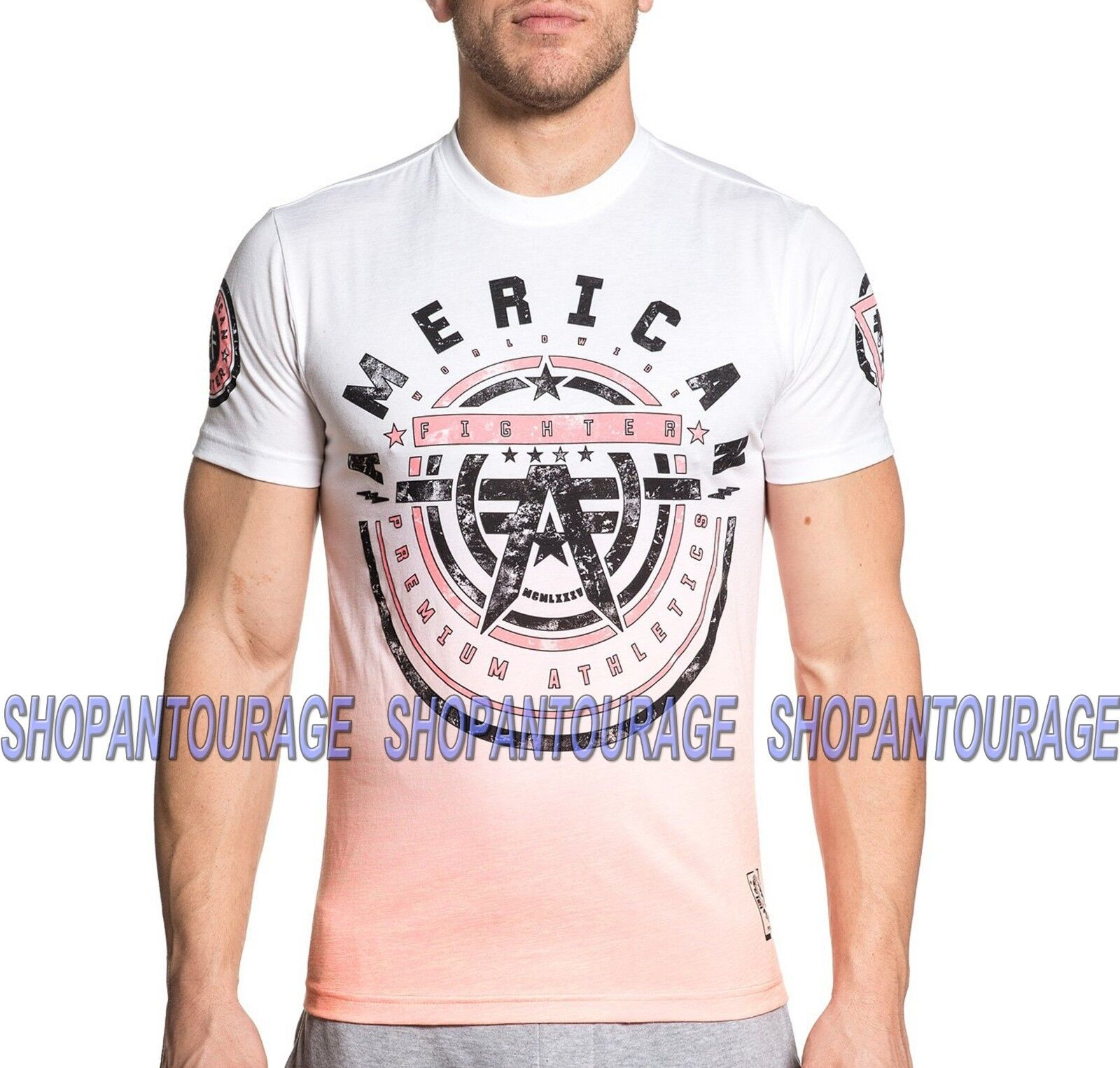 AMERICAN FIGHTER Galloway FM6657 Men`s White T-shirt By Affliction