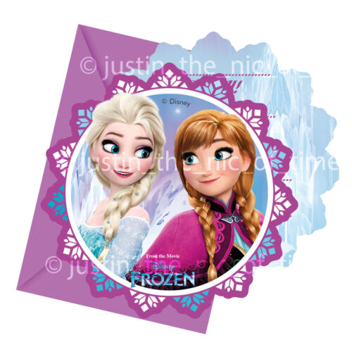 Disney FROZEN Princess Birthday Party Invites Girls Boys  Job Lot INVITATIONS