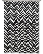 Mudhut Black U0026 White Chevron Zig Zag Shower Curtain