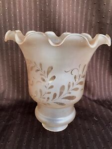 Image Is Loading Vintage Art Deco French Vianne Gl Torchiere Lamp