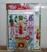 20 Pc Polly Pocket Holiday Dazzle Christmas Playset Set 2003 B2642