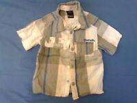 Boys 2-3 Years - Grey, Blue, Pink & White Check Short Sleeve Shirt - Bench