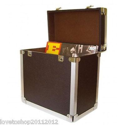 Steepletone Black 12 Inch LP Vinyl Retro Style Record Storage Carry Case SRB2