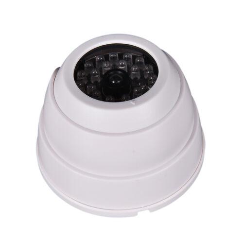 Dummy Fälschungs-Überwachung Sicherheit Dome Kamera blinkende LED-Licht-W I1