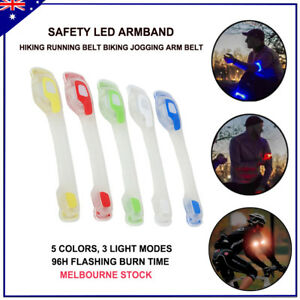 Safety Led Armband Glow Reflective Hiking Running Belt Biking Jogging Arm Belt