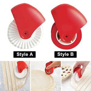 Pizza-Lattice-Noodle-Dough-Cutter-Pastry-Pie-Wheel-Roller-Kitchen-Baking-NEW