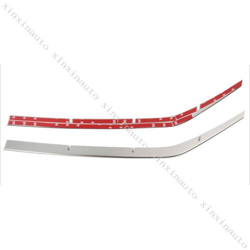 Steel Chrome Front FogLight Molding Trim Strip For Toyota Land Cruiser LC200 16+