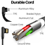 miniature 3 - Right Angle 90 Degree Android Charger Fast Charging Micro USB Cable 3/ 6/ 10 Ft