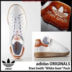 8bce51e049cc Adidas Originals Stan Smith White Orange Suede Heel GUM Brown Pack ...