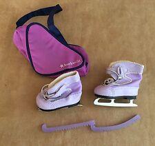 Mia Purple Ice Skates & Bag skating American Girl doll GOTY retired