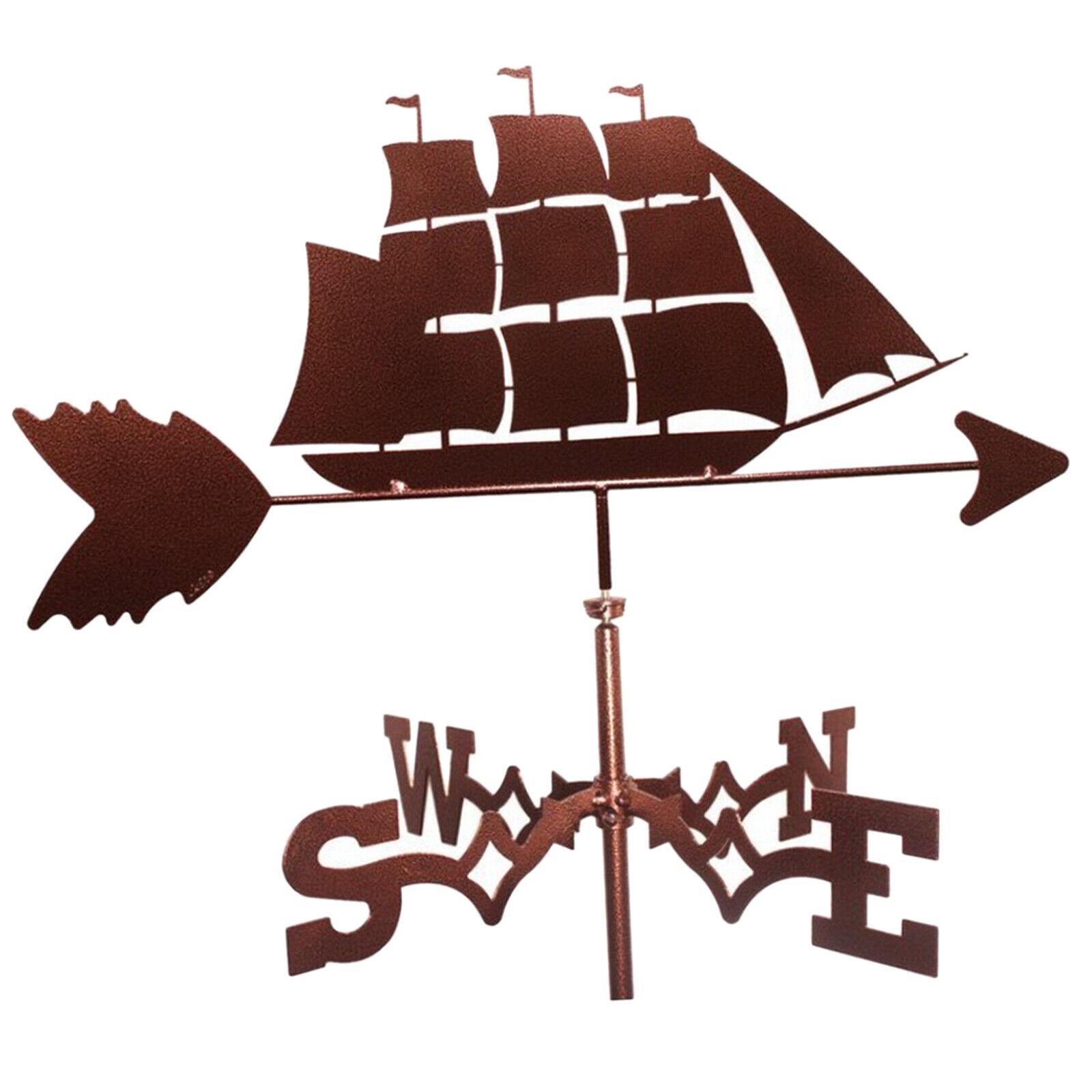 Decorative Stainless Steel Sailboat Weathervane Roof Mount Weather Vane Barn