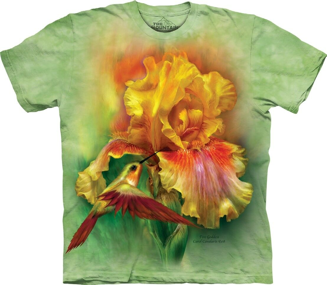 The Mountain Unisex Adult Fire Goddess Flower T Shirt