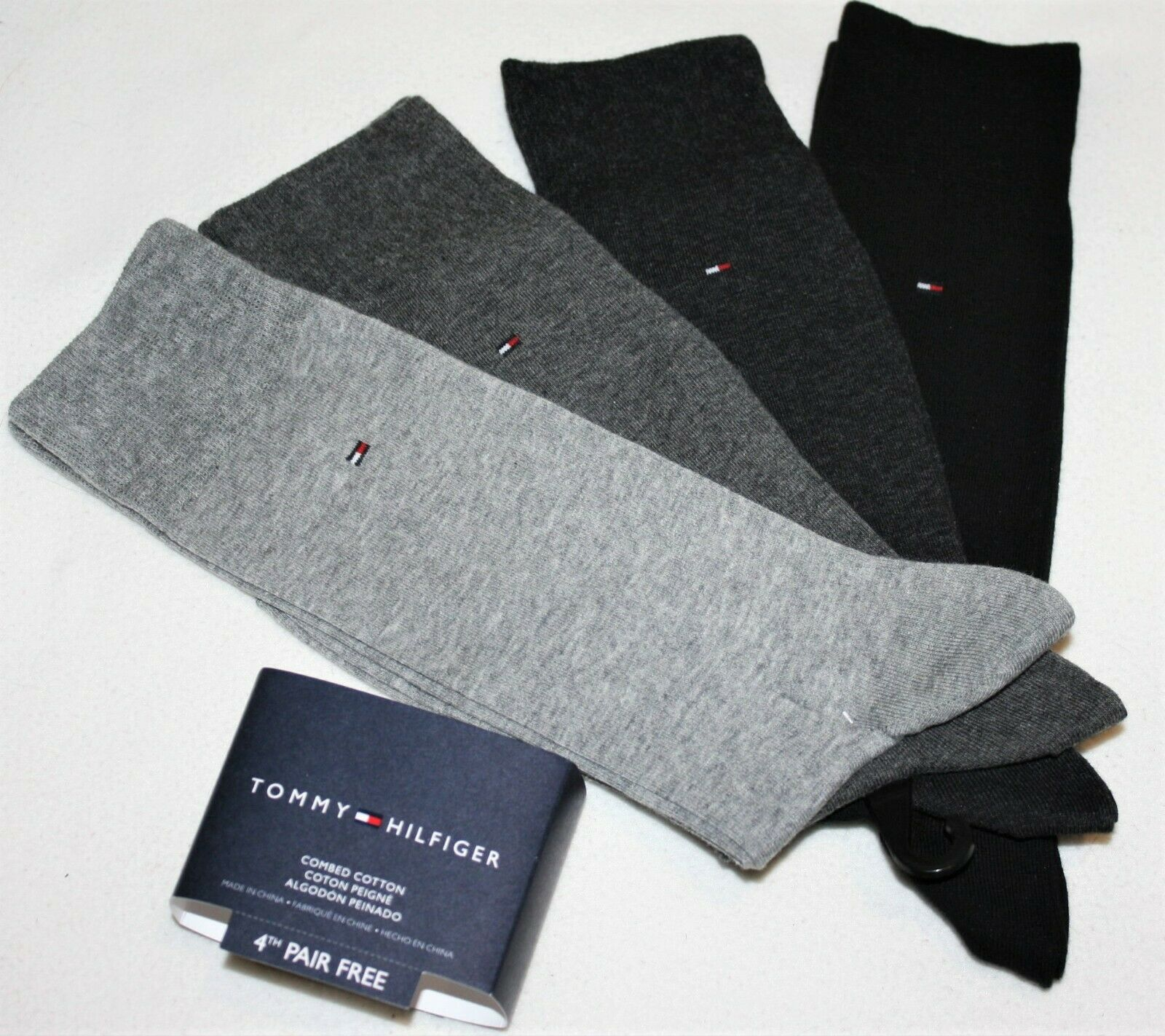 Socken Tommy Hilfiger Mixed Dots Giftbox 4P dark navy 492001001-322