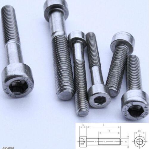 Zylinderkopf-Schrauben DIN912 Edelstahl VA IINNENSECHSKANT M4 Zylinderschrauben