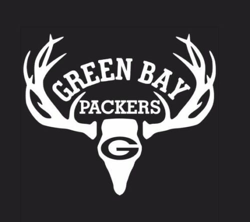 Deer Hunting Antler Truck or Car Window Decal Sticker Green Bay Packers