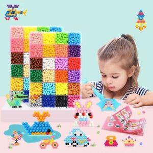 500pcs 5mm Hama 3D Aqua Beads PUPUKOU Tool DIY Perler Ball Educational Kids Toy