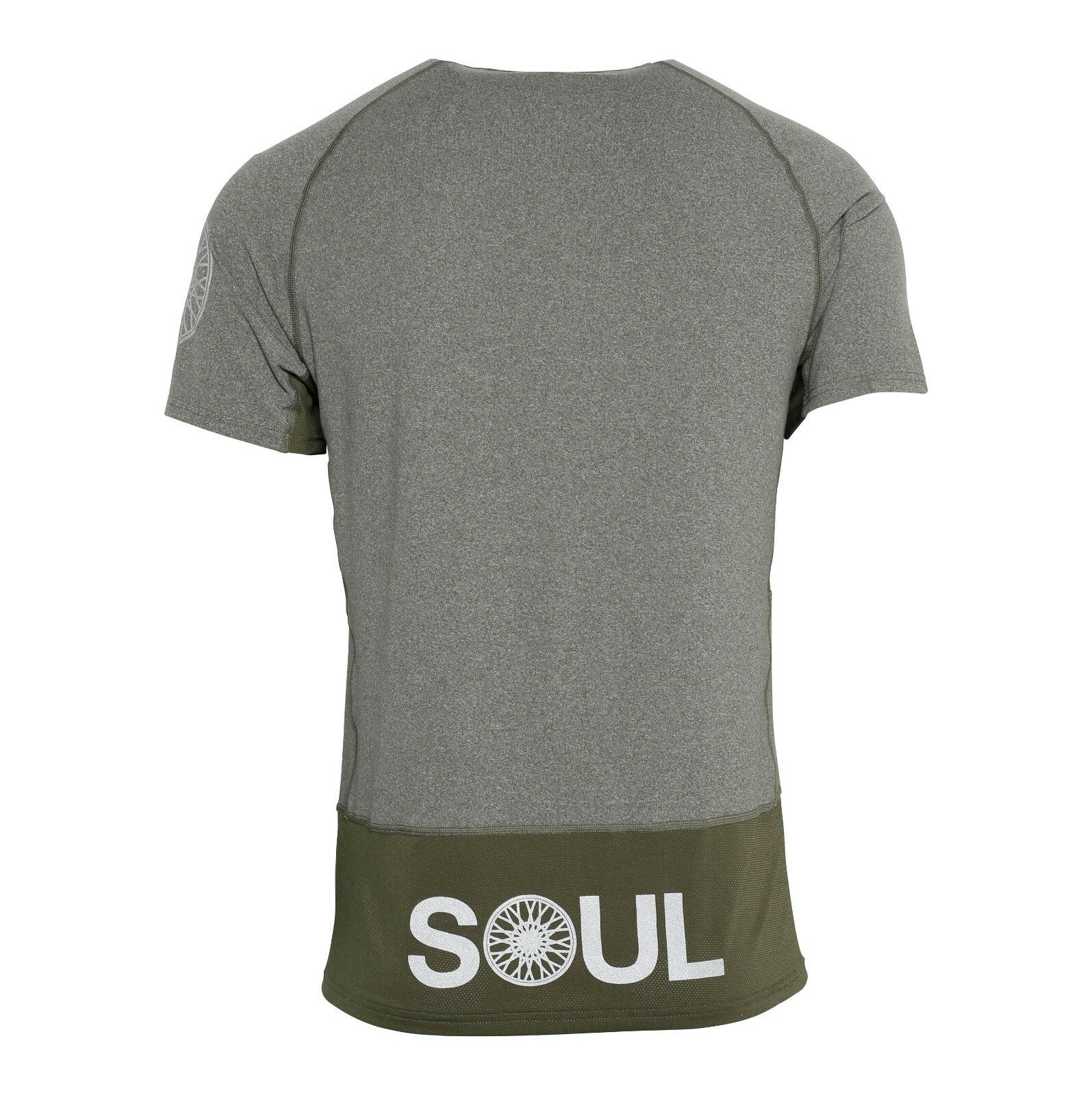 NEW Soulcycle Melange Olive Grün Workout Athletic Cycling Running T-Shirt XL
