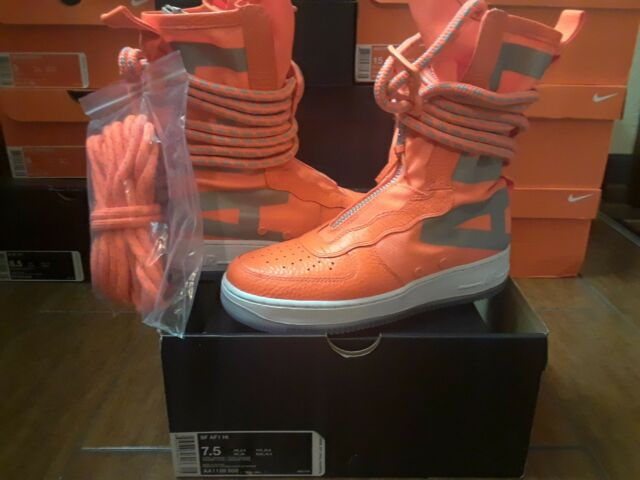 d81d50a418de Nike Air Force One 1 High Special Field SF AF1 Total Safety Orange 3M AA1128  800