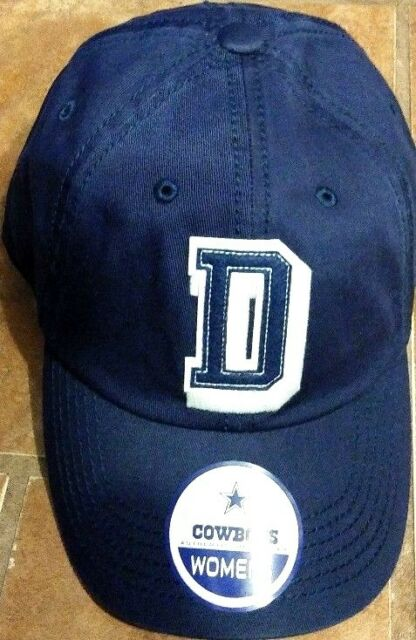 b641dfa2ed3 DALLAS COWBOYS NFL DCM WOMENS MOSS ADJUSTABLE STRAP BACK NAVY BLUE HAT CAP   24
