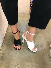 290bf331b0d7 Handmade Women Leather Toe Pirate Sandals Slingback Shoes Mid Pumps Kitten  Heel