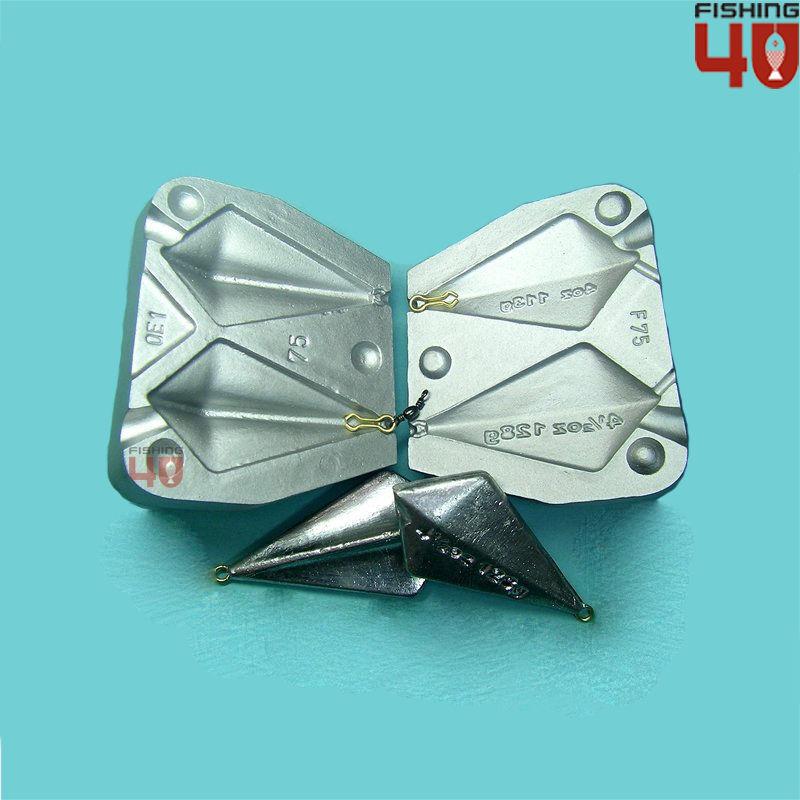 Fox Style Mould 113g, 128g 2oz-4.4oz fishing lead sinker  mould Kite Lead weight  40% off