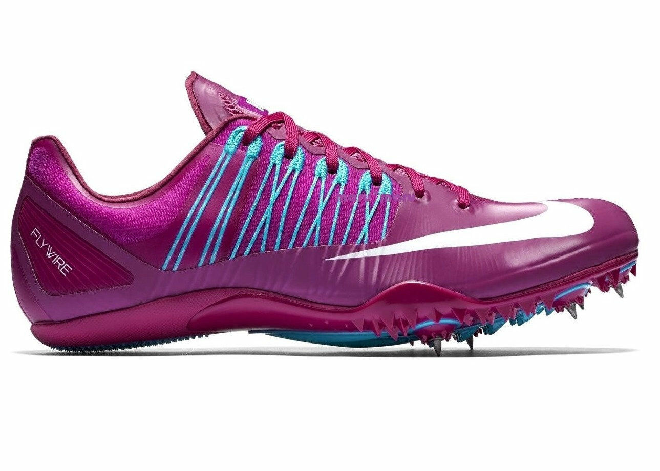 Mens NIKE ZOOM 'CELAR 5' Shoes 10.5 Berry Purple/Teal running track sprint
