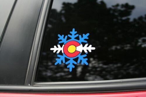 Colorado State Flag Snowflake #2 Die-Cut Sticker