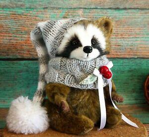 handmade-OOAK-Artist-teddy-bear-raccoon-7-034