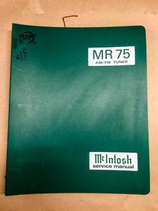 McIntosh-MR75-MR-75-AM-FM-Tuner-Service-Manual-Binder-Original