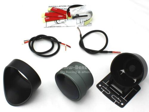 Race Tech 52mm Stepper Motor Volt Voltage Meter Gauge White LED Warning Light
