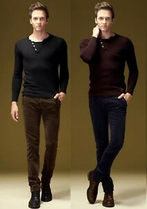 New-Men-039-s-Trousers-Casual-Corduroy-Spring-Fall-Slim-Fit-Pant-Waist-29-034-40-034