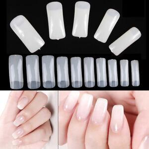 500PCS-Natural-Half-Nail-Art-Acrylic-Tips-Artificial-UV-Gel-False-Nail-UK-Seller