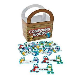 Kids Compound Words Matching Game Home Education Ants Letters Homeschool Learn