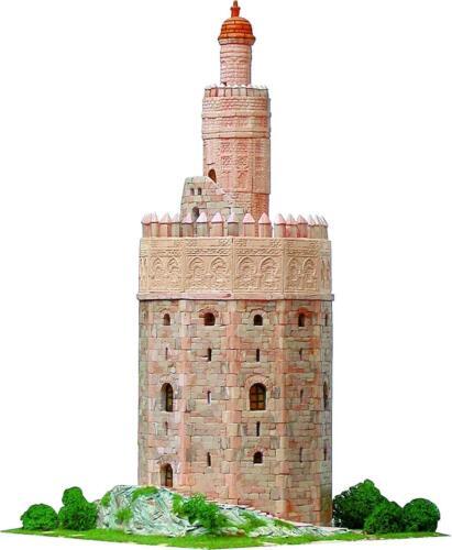 Maqueta de construcción ladrillo de Torre del Oro de Sevilla AEDES 1260