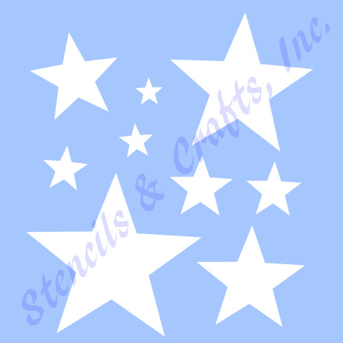 star mini stencil many stars celestial stencils template paint craft