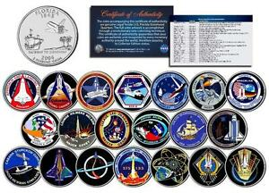 SPACE-SHUTTLE-PROGRAM-MAJOR-EVENTS-Florida-Quarters-US-20-Coin-Set-NASA-Missions