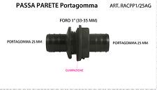 """PASSAPARETE 1"""" DOPPIO OORTAGOMMA 25 mm PP  ATTACCO SERBATOIO   art.RACPP1/25AG"""