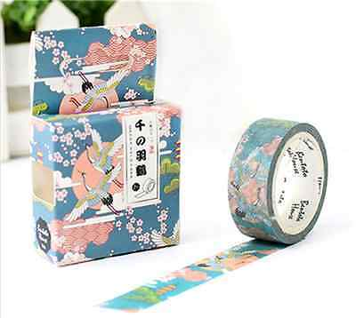Design 15mm×7M paper Sticky Adhesive Sticker Decorative Washi Tape U PICK Sytle