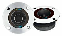 Pair Of Pyle Pdbt19 3.75 Aluminum Bullet Titanium Horn Tweeter 150w Rms 98db on sale