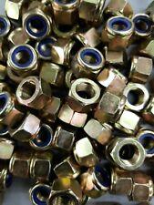 6PC Titanium Hex Flange Lock Nut M10 x 1.25mm Fine Thread Nylon Lock Nut M10
