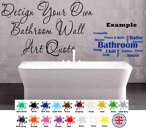 Personalised wall art bathroom design your own quote for Design your own mural